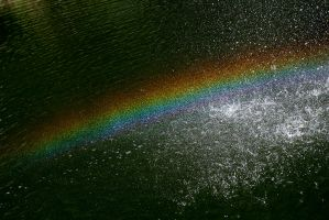 Fountain Rainbow by BlackRoomPhoto