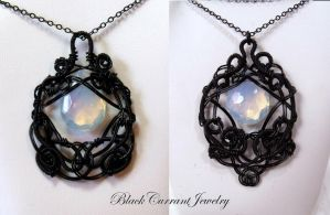 Two Moonstones by blackcurrantjewelry
