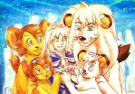 Kimba Family and Elysios by neshirys