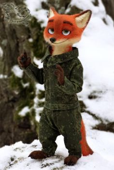 Felting. Military Nick Wilde by YuliaLeonovich