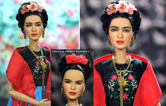 Frida Kahlo custom doll repaint by Noel Cruz by noeling