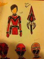 Ritsuzen Sentai Yokaiger suit and weapon preview by buddyfrank