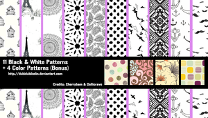 Black and White Patterns by DubiDubiKelin