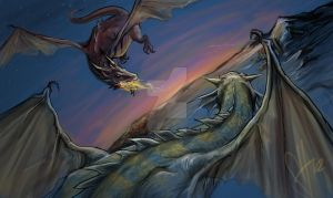 When Dragons Ruled the Earth by scottssketches