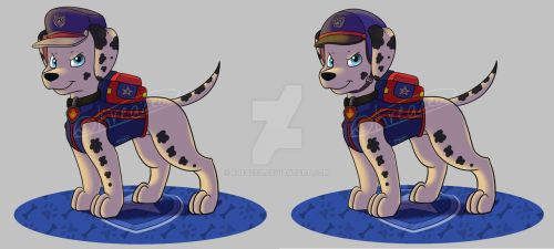 Paw Patrol Ultimate Rescue Police Pup Marshall by kreazea