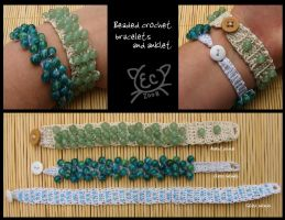 crochet with beads by kiryoku