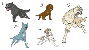 Adoptables 8-All Taken by Bloodthirstwolf