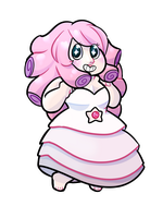Rose Quartz Chibi by Biittle