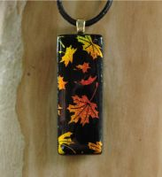 Fall Leaves Fused Glass by FusedElegance