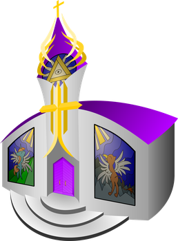 Cathedral of the Holy Providence in Canterlot by TheCatkitty