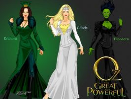 Oz the great and powerful witches by LadyRaw90