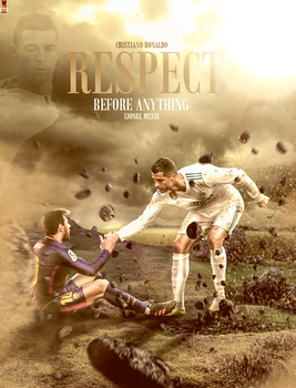 Cristiano Ronaldo And Leo Messi 2018 Poster by workoutf