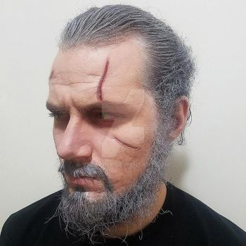 The Witcher Geralt of Rivia makeup by creepyVel by VelApple