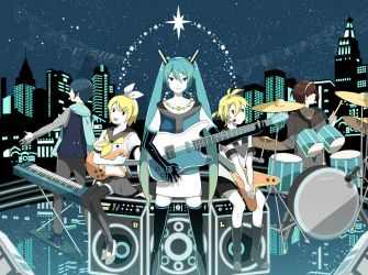 Vocaloid's future band style by chamooi