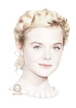Elle Fanning - Vector stippling 242 by craneo242