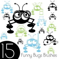 Funny Bugs Brushes by jLyn85