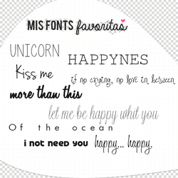 Mis Fonts Favoritas by a-Rawring
