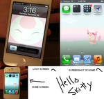 Hello Skitty iPhone Pics by MsKtty89