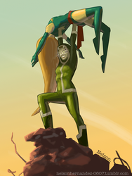 Ms. Marvel vs Rogue: Game Over by NelsonHernandez