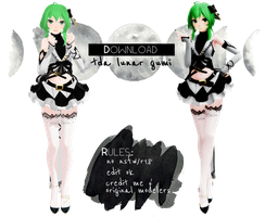 [ mmd ] tda lunar gumi [ download ! ] by aeriiie