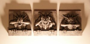 see, hear and speak no evil by JIM-SWEET