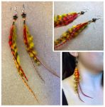 StarFire Feathered Earrings by Destiny-Carter