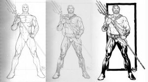 Aquaman ' my reboot ' steps by PauloSiqueira