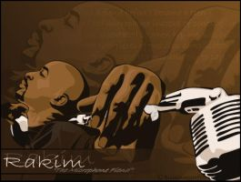 Rakim 'The Microphone Fiend' by BlissInMyCoffee