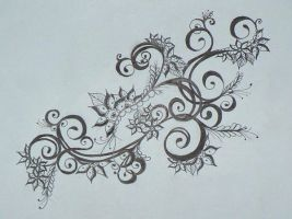Larger Henna Drawing by Beffychan