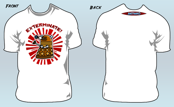AnyWho 'EXTERMINATE' T-shirt by willmeister42