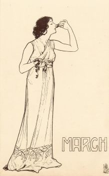 Art Nouveau Months - March by Yesterdays-Paper