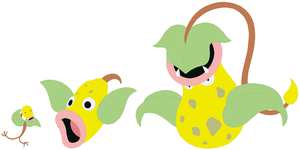 Bellsprout, Weepinbell and Victreebel Base