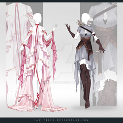 (CLOSED) Adoptable Outfit Auction 305-306 by JawitReen