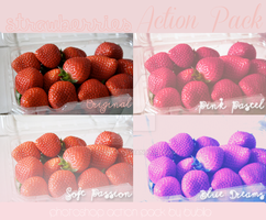 Strawberries Pack Photoshop Action by Bublla