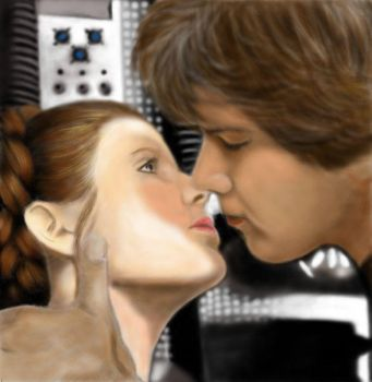 han and leia by Loreleydatura