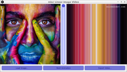 Creative Coding: Linear Image Video by miowebdev