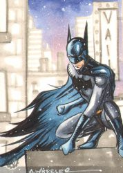 Batman sketch card for Vail by wheels9696