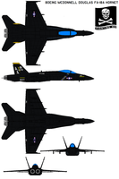 Boeing  FA-18 black by bagera3005