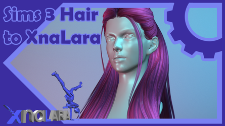 Sims 3 Hair to XPS (with rigging / weight paint) by LexaKiness