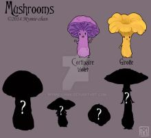 Mushrooms Charadesign by Mymie-chan