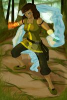 Korra in the Swamp by Mandi-Cakes81