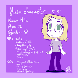 Webcomic: main character introduction by MikaMilaCat