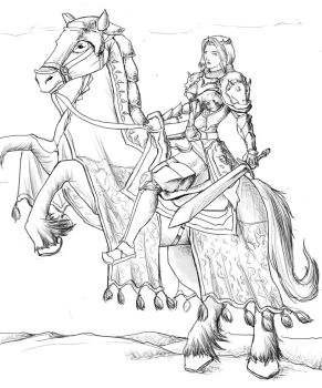 Queen's riding horse by Guinzoo
