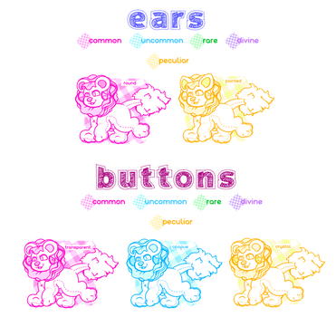 Lacelion trait guide: ears and buttons by UNlCORE