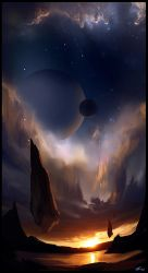 Land at the Edge of the Universe by GeorgeLovesyArt