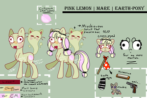 2017 PinkLemon MLP:FIM OC Reference by OffensiveSpider