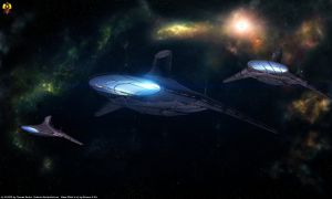 Asari Light Cruisers by Euderion