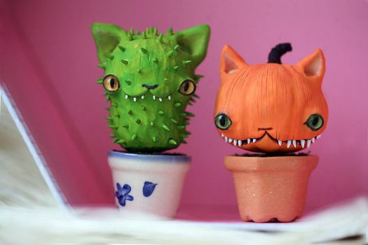 tiny cat plants by da-bu-di-bu-da
