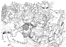 Dragon Ball and MLP - What if scenario by AerthManolo