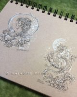 Ink drawings by MeredithDillman